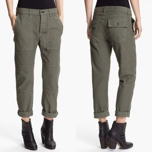 • Rag & Bone • Bowery 2 Military Jeans Army Green